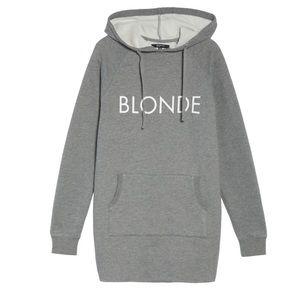 Brunette The Label Blonde Sweatshirt Dress Size SM